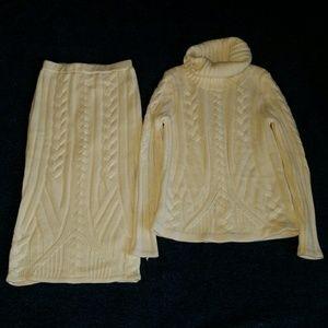 Eva mendes Sweater skirt set